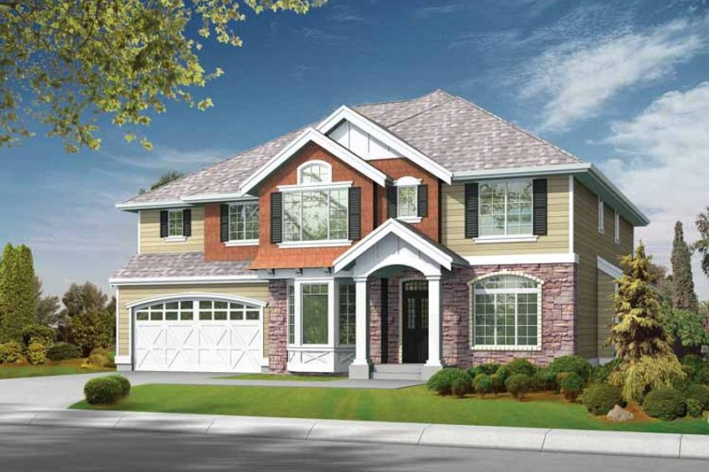 Traditional Exterior - Front Elevation Plan #132-377 - Houseplans.com