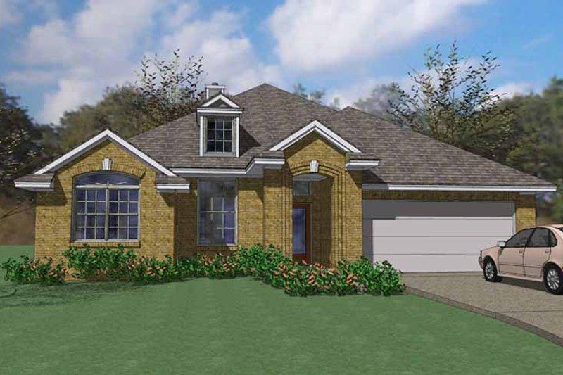 House Plan Design - European Exterior - Front Elevation Plan #120-237