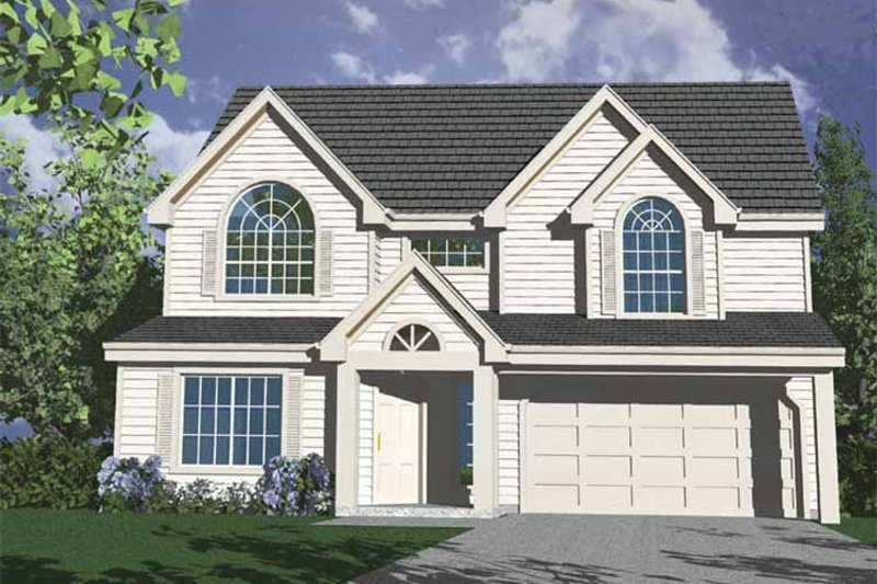 Traditional Exterior - Front Elevation Plan #509-151 - Houseplans.com