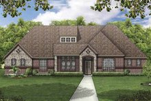 European Exterior - Front Elevation Plan #84-775