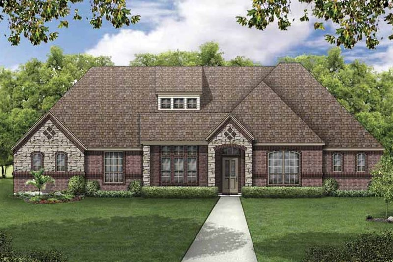House Plan Design - European Exterior - Front Elevation Plan #84-775