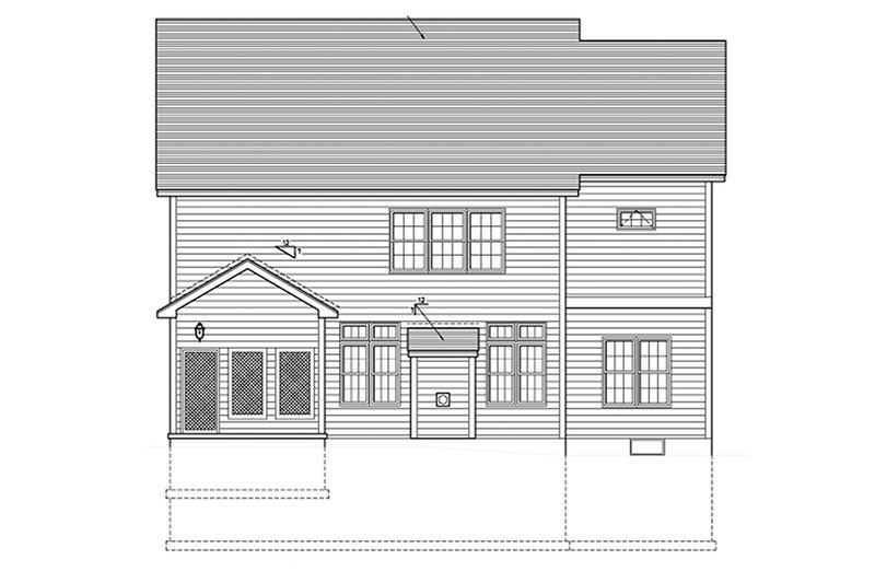 Country Exterior - Rear Elevation Plan #1010-121 - Houseplans.com
