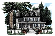 Home Plan - Colonial Exterior - Front Elevation Plan #927-280