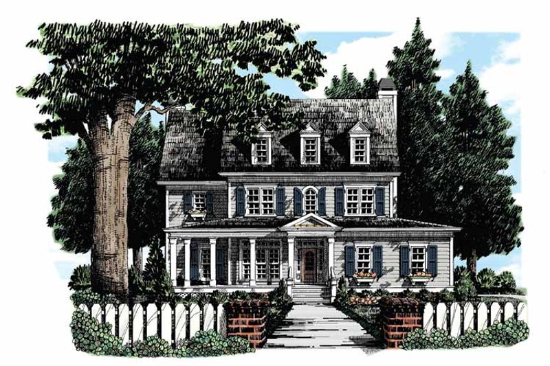 Colonial Exterior - Front Elevation Plan #927-280