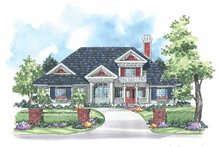 Country Exterior - Front Elevation Plan #930-182