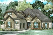 European Style House Plan - 4 Beds 3 Baths 2545 Sq/Ft Plan #17-3387 Exterior - Front Elevation