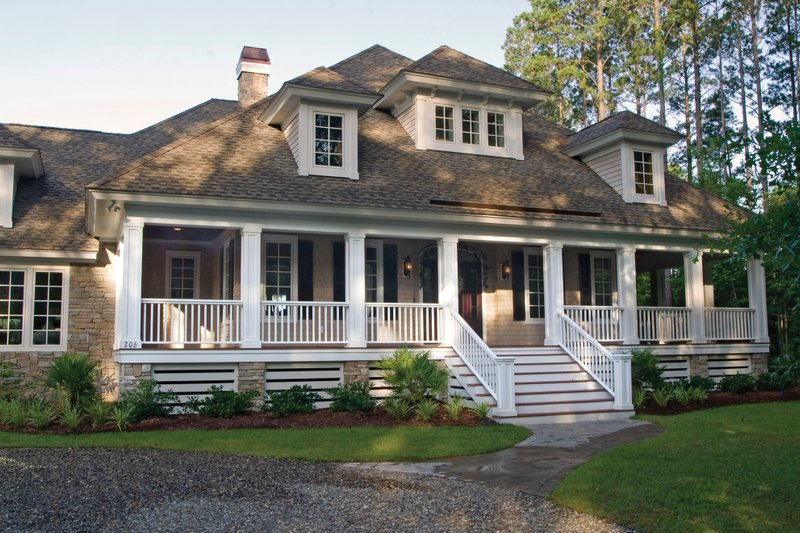 Country Exterior - Front Elevation Plan #930-10 - Houseplans.com