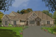 Country Style House Plan - 4 Beds 2.5 Baths 2414 Sq/Ft Plan #63-267 Exterior - Front Elevation