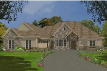 Architectural House Design - Country Exterior - Front Elevation Plan #63-267