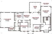 Colonial Style House Plan - 4 Beds 3.5 Baths 3438 Sq/Ft Plan #63-290 Floor Plan - Main Floor Plan