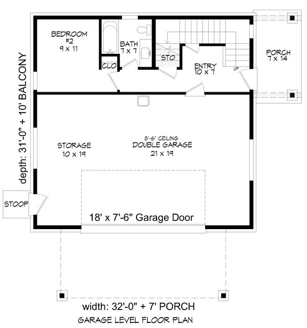 Contemporary Floor Plan - Lower Floor Plan Plan #932-67
