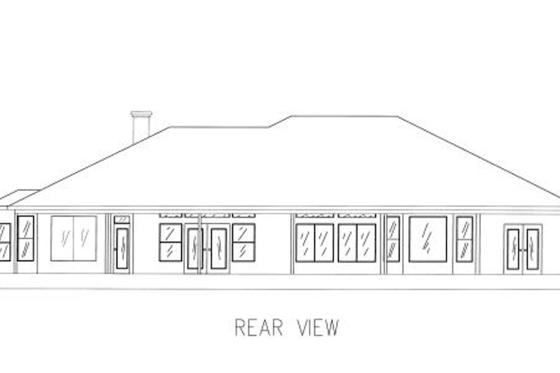 Mediterranean Exterior - Rear Elevation Plan #437-34 - Houseplans.com