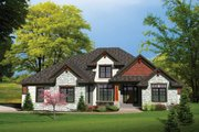 Traditional Style House Plan - 4 Beds 3.5 Baths 3189 Sq/Ft Plan #70-1107 Exterior - Front Elevation