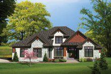 Dream House Plan - Traditional Exterior - Front Elevation Plan #70-1107