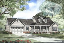 House Plan Design - Traditional Exterior - Front Elevation Plan #17-1147