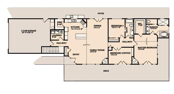 Mediterranean Floor Plan - Main Floor Plan Plan #515-11