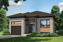 Contemporary Exterior - Front Elevation Plan #25-4284