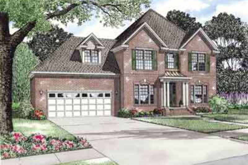 Home Plan - Southern Exterior - Front Elevation Plan #17-630