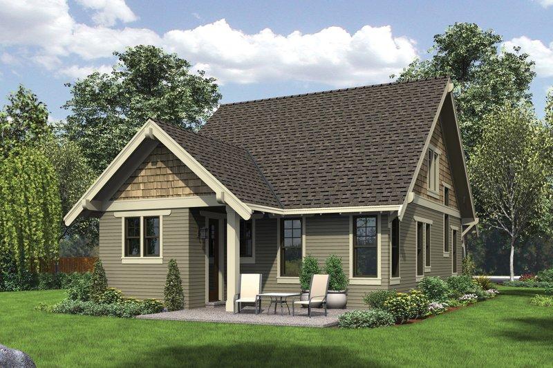 Bungalow Exterior - Rear Elevation Plan #48-646 - Houseplans.com
