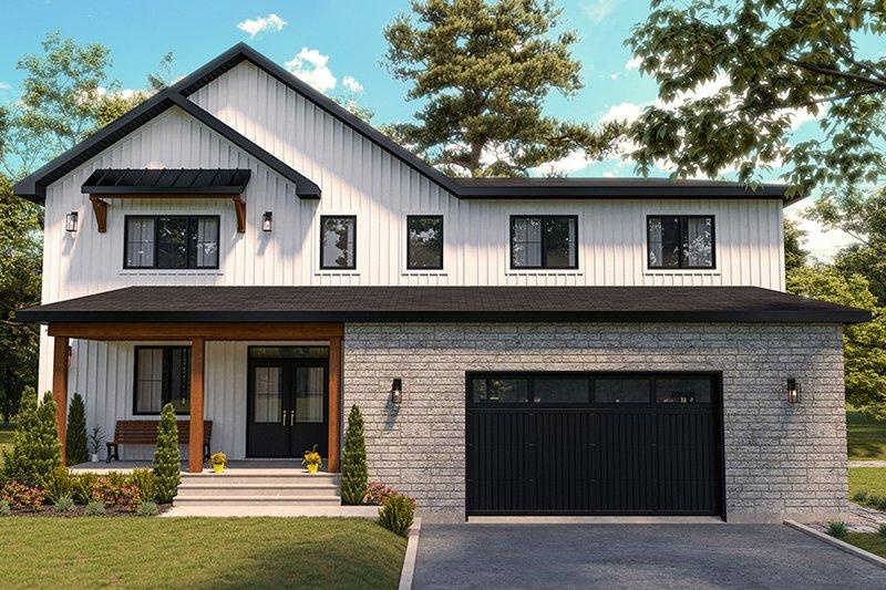 Home Plan - Farmhouse Exterior - Front Elevation Plan #23-2752