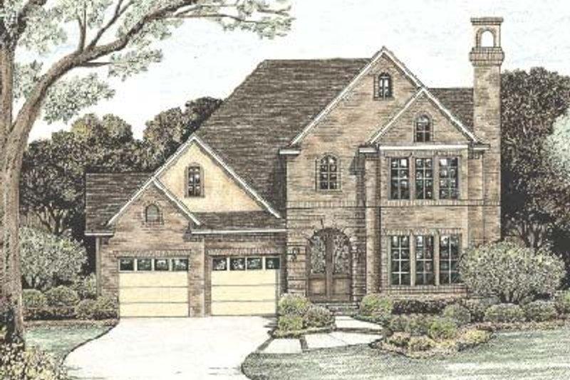 Dream House Plan - European Exterior - Front Elevation Plan #20-770