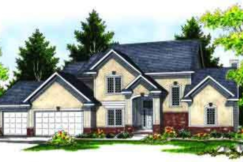Dream House Plan - Traditional Exterior - Front Elevation Plan #70-621