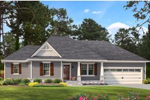 Cottage Exterior - Front Elevation Plan #406-9661
