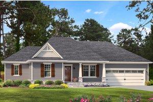 Cottage Exterior - Front Elevation Plan #406-9661