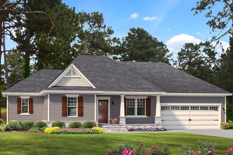 House Plan Design - Cottage Exterior - Front Elevation Plan #406-9661