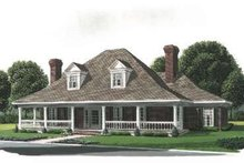 Southern Exterior - Front Elevation Plan #410-158