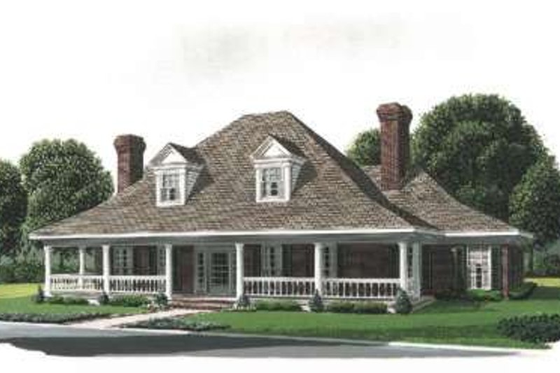 Home Plan - Southern Exterior - Front Elevation Plan #410-158