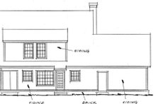 Home Plan - Traditional Exterior - Rear Elevation Plan #20-353