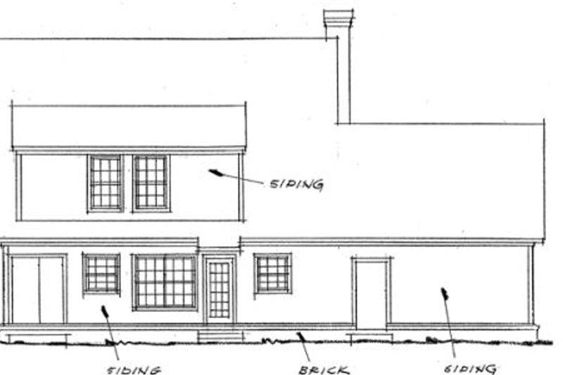 Traditional Exterior - Rear Elevation Plan #20-353 - Houseplans.com
