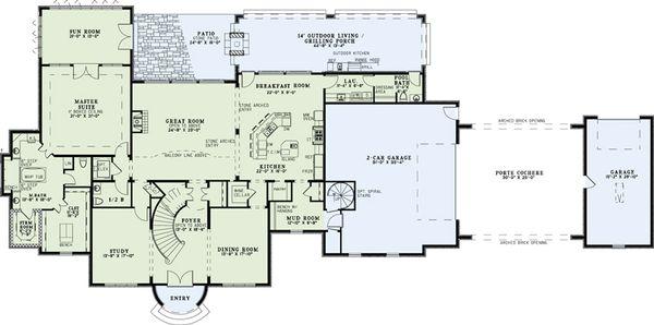 European Floor Plan - Main Floor Plan Plan #17-2530