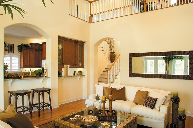 Mediterranean Interior - Family Room Plan #930-16 - Houseplans.com