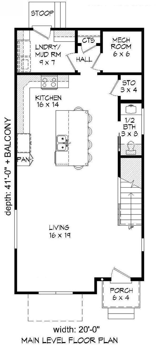 Dream House Plan - Contemporary Floor Plan - Main Floor Plan #932-317