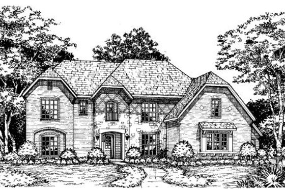 European Exterior - Front Elevation Plan #141-307