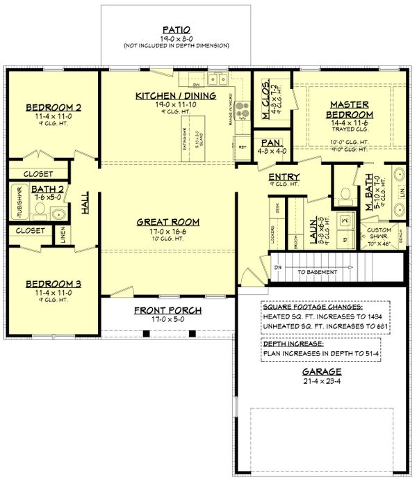 Farmhouse Floor Plan - Other Floor Plan Plan #430-209