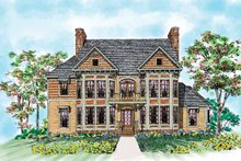 Victorian Exterior - Front Elevation Plan #72-891