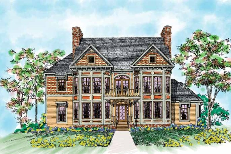 Home Plan - Victorian Exterior - Front Elevation Plan #72-891