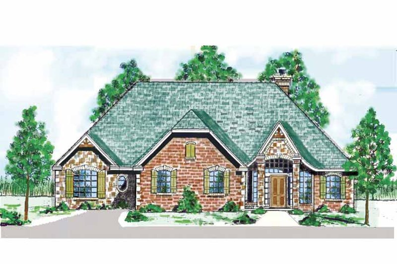 Country Exterior - Front Elevation Plan #52-278 - Houseplans.com