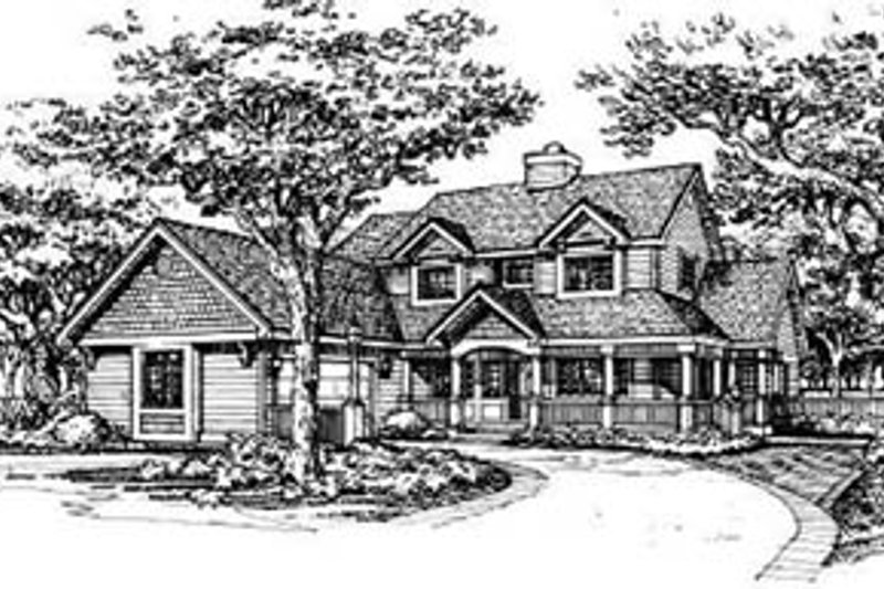 Home Plan - Country Exterior - Front Elevation Plan #50-139