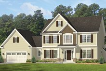 Architectural House Design - Colonial Exterior - Front Elevation Plan #1010-160
