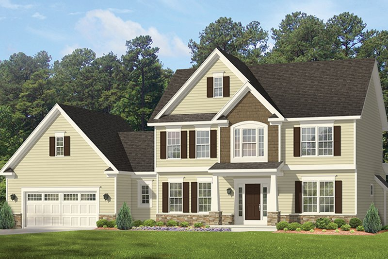 Colonial Exterior - Front Elevation Plan #1010-160 - Houseplans.com