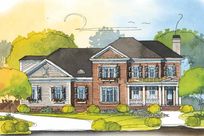 Colonial Exterior - Front Elevation Plan #429-400 - Houseplans.com