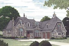 House Plan Design - European Exterior - Front Elevation Plan #453-579