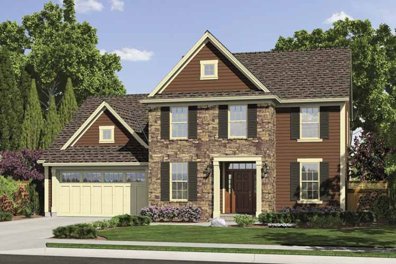 Traditional Exterior - Front Elevation Plan #46-794 - Houseplans.com