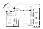 Craftsman Style House Plan - 5 Beds 4.5 Baths 4514 Sq/Ft Plan #437-100 Floor Plan - Lower Floor Plan