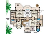 Mediterranean Style House Plan - 5 Beds 6 Baths 6718 Sq/Ft Plan #27-393 Floor Plan - Upper Floor Plan