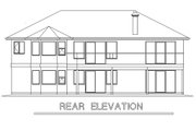 Ranch Style House Plan - 2 Beds 2 Baths 1477 Sq/Ft Plan #18-105 Exterior - Rear Elevation